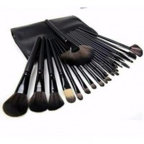 24 pieces Makeup Brush Set With Leather Case