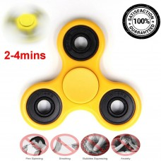 Yellow Tri Fidget Hand EDC Finger Spinner